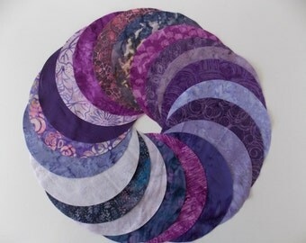 Purple Batiks Fabric 30 Pc Jelly Roll 2 5 Strips 100