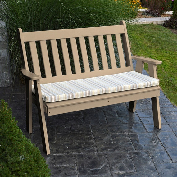 Recycled Plastic Traditional English 4ft Garden Bench
