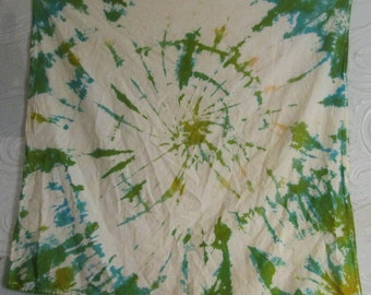 """Green Tye die wall hanging """"tapestry"""" 32x35 inches.............."""