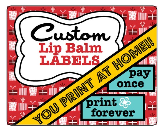 2 125 x 1 6875 label template - personalized lip balm labels customized labels print at