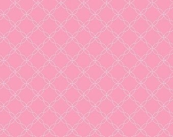 45'' Maywood Studios Little Ones Flannel Pink Lattice by the Yard MASF 8230-P