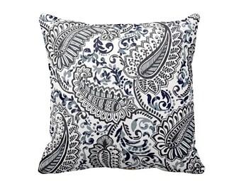 Navy Throw Pillow Cover Navy Blue Pillow Cover Navy Pillow Cover Navy Paisley Pillow Cover Navy Decor Floral Pillows Decorative Pillows