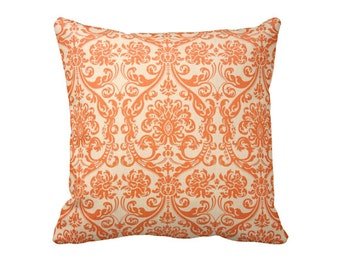Orange Decorative Pillow Throw Pillow Cover Orange Pillow Orange Accent Pillow 12x16 18x18 20x20 22x22 24x24 Inches