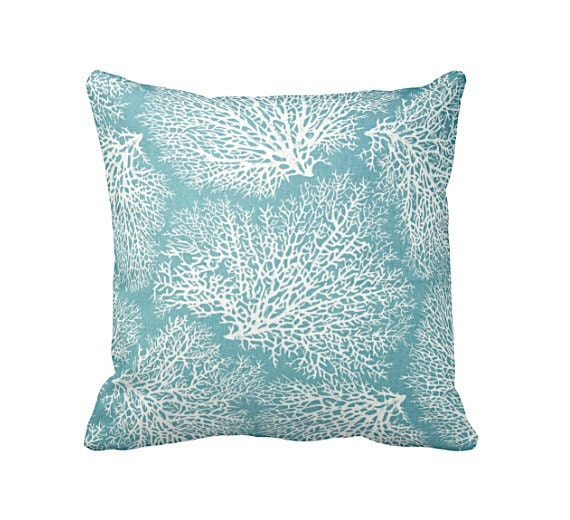 Common Decorative Pillow Sizes : 6 Sizes Available: Blue Throw Pillow Covers Decorative Pillow