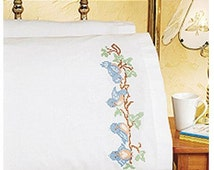 "Janlynn Birds On A Branch Pillowcase Pair Stamped Cross Stitch, 20"" x 30"""