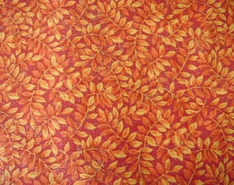Harvest Leaves Cotton Fabric Sold by the Yard