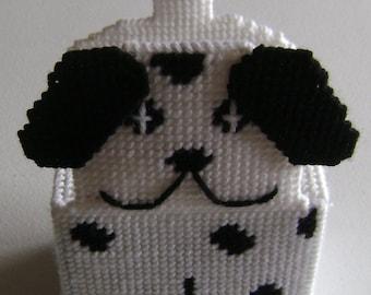 Dalmatian Puppy Plastic Canvas Tissue Box Cover