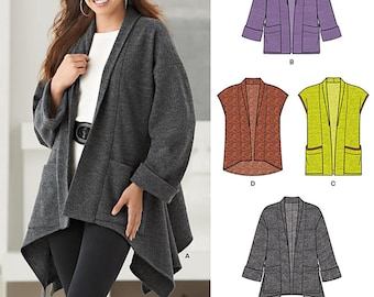 OUT of PRINT New Look Pattern 6249 Misses' Jacket with Length Variations & Vest