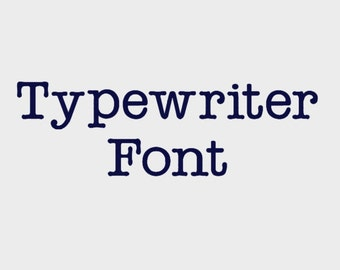 "Typewriter Embroidery Machine Font in 4 sizes (0.5"", 1"", 1.5"" & 2"") upper and lower case + numbers - INSTANT DOWNLOAD -  Item # 1071"