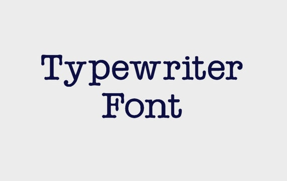 what is the font size of a typewriter