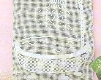 PDF Crochet pattern curtains-tend  -  Crochet panel - Home decor - vintage  crochet