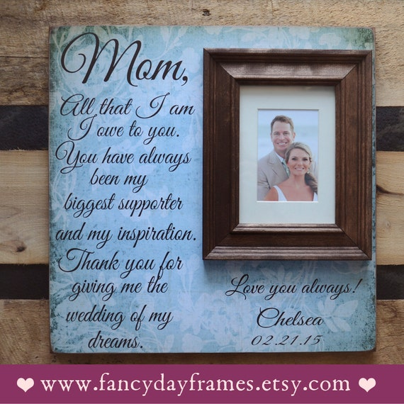 Unique Mother Of The Bride Gifts: Mother Of The Bride Gift Personalized Picture By