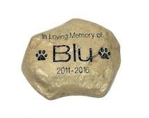 Personalized Garden Stone Pet Memorial Marker Large Heavy Duty Stone