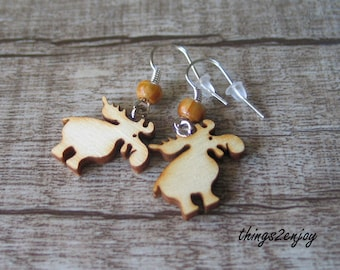 Earrings-Moose