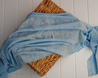 Sky Blue- Individual Deluxe Stretch Knit Wrap- Newborn Photography Prop- Ready To Ship