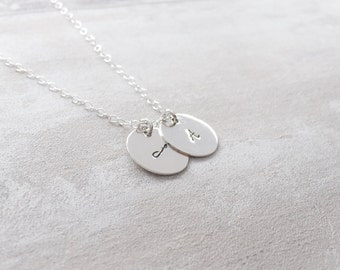 Mini Disc Necklace in Sterling Silver