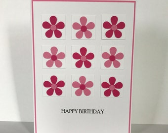 Flower Power!, happy birthday, flowers, pink flowers, thinking of you