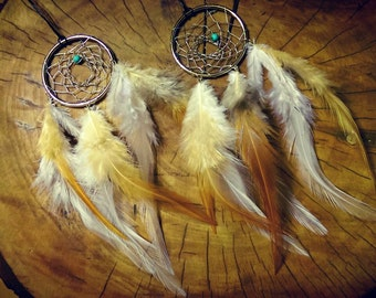 WD-Dream Catcher Necklace, American Indian Made by One Earth Exchange, Made in Michigan