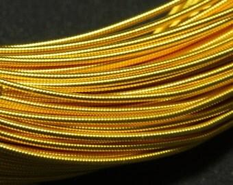 10Mtr, 1MM Jaseron French Stiff wire in Dark Gold Color