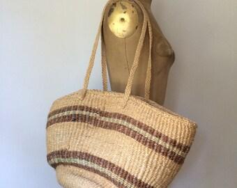 Woven market bag oversize