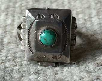 Lovely Native American Pillbox Ring