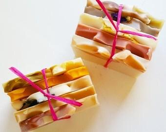 Lavender Soap Sampler, Sampler Set, Natural Soap, Sampler Pack, Soap Sample, Soap Slices, Essential Oil Soap, Natural, Non-toxic, Soap gift