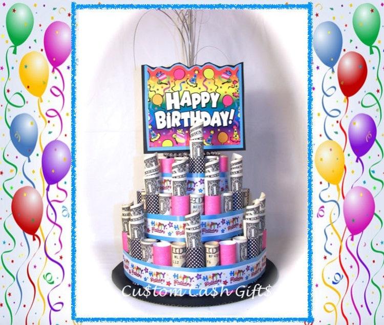 Money Cake Happy Birthday Unique Gift Made By Customcashgifts