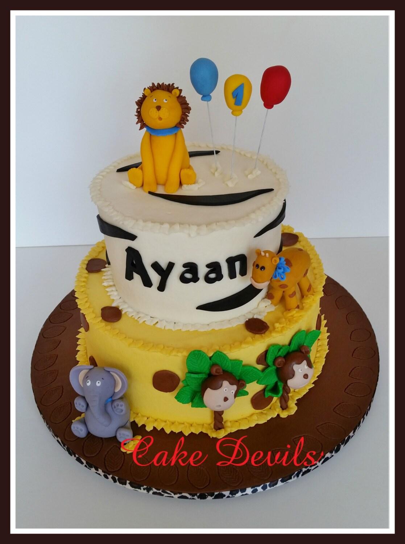 Jungle Animals Cake Decorating Kit : Safari Animal Fondant Cake Topper Kit Jungle Animal Zoo