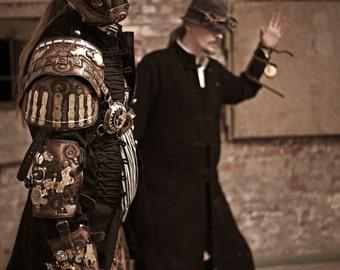 Steampunk Armor - Shoulder Armor - Steampunk Clothing - Leather Armor - Cosplay Armor - Steampunk Arm - Steampunk Costume - Costume Armor