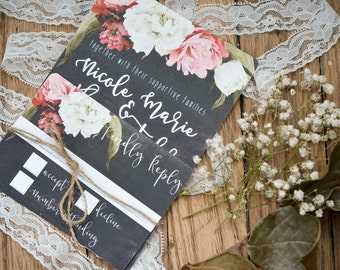 FLORAL|Wedding Invitation Set #55