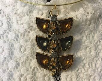 Vintage Pendant Circle Necklace