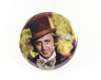 """Gene Wilder - Willy Wonka 2.25"""" Pinback Button"""