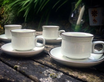 Denby Set of Four Cups and Saucers