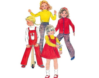 Butterick Children's Jacket, Jumper, Overalls, Top and Pants Pattern / Coat, Sweater, Trouser Size 6 sewing pattern, Pattern 3370, Free Ship