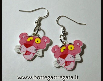 Panther Pink Panther Pink cartoon Earrings