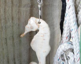 Ceramic Seahorse Pendant
