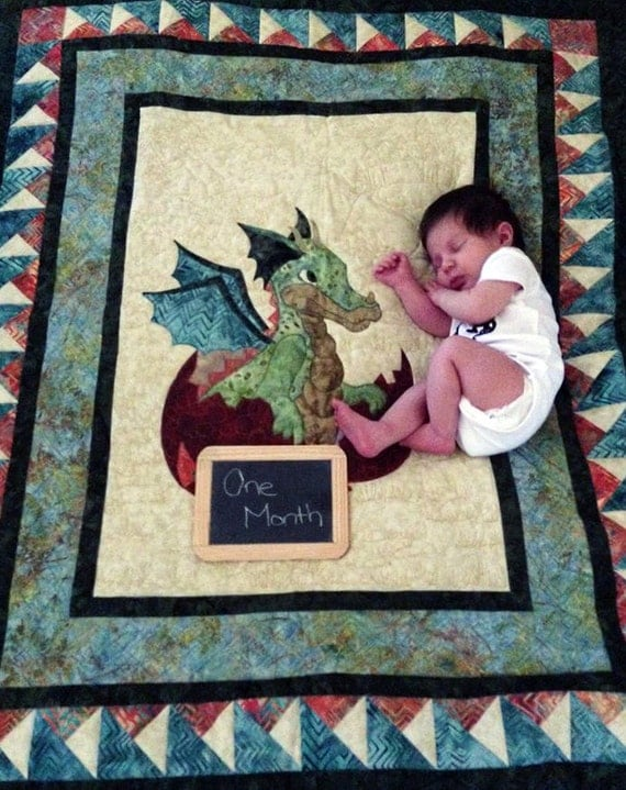 Baby Quilt Pattern Pdf Dragon Quilt Baby By