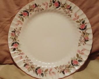 Lovely Vintage Fine Bone China Plate Creative Regency Rose Made in Japan