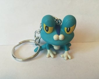 Pokemon Keychain - Froakie - repurposed toys