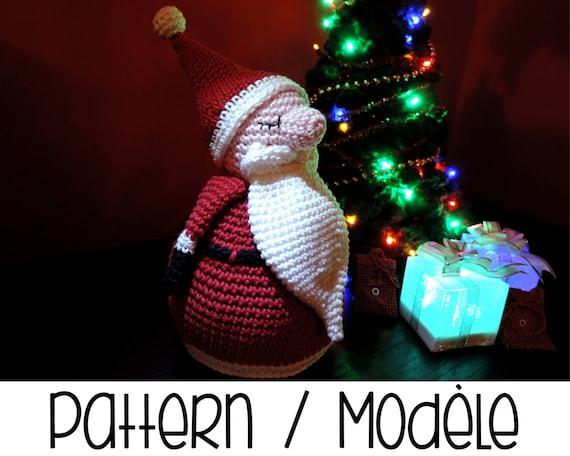 Amigurumi Father Christmas : PDF PATTERN : Resting Santa Claus amigurumi Father Christmas