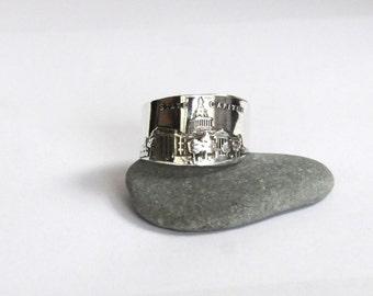 nebraska ring, spoon ring,  sterling ring,  lincoln nebraska ring,  american ring