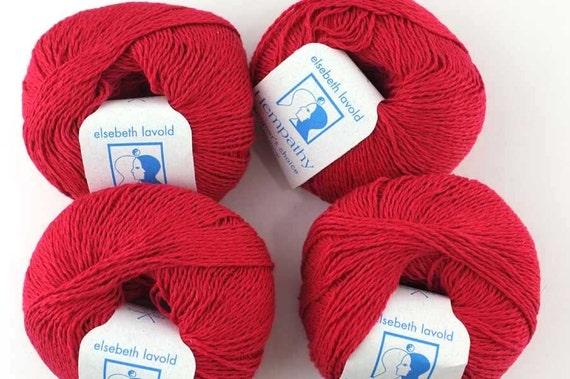 Modal Knitting Yarn : Hempathy hemp yarn color cherry red cotton modal