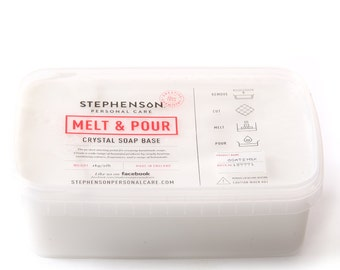 Melt and Pour Soap Base - Goats Milk - 1Kg block