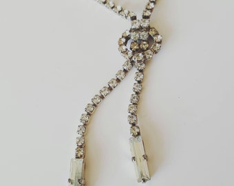 FREE SHIPPING Vintage 1950s Genuine Austrian Rhinestone Necklace