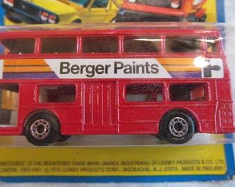 Superfast Matchbox  Double  Decker  1976  Bus   Berger Paint  NIP