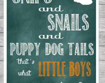 Snips and Snails and Puppy Dog Tails Digital Print