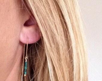 Ear Threads / Turquiose Earrings
