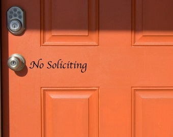 No Soliciting Vinyl Decal-2 Styles