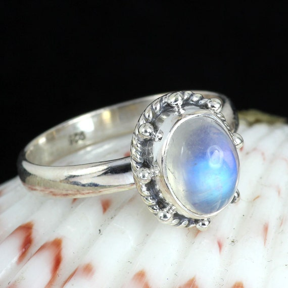 rainbow moonstone ring rainbow ringrainbow moonstone