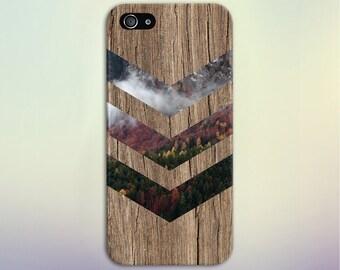 Fall Foliage Forest Chevron Brown Wood Phone Case Nature Galaxy s8 Case, Tough Case iPhone 6, Samsung s7 edge Case Escape iPhone 6s Plus